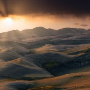 Sand Dunes at Sunset